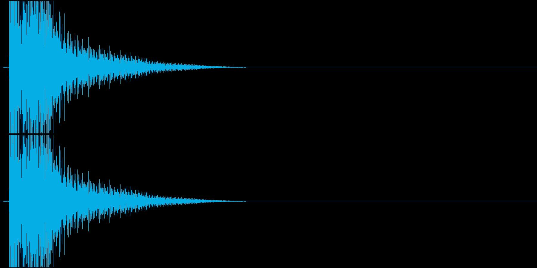 Katana 脇差や小刀、鉄爪の斬撃音の再生済みの波形