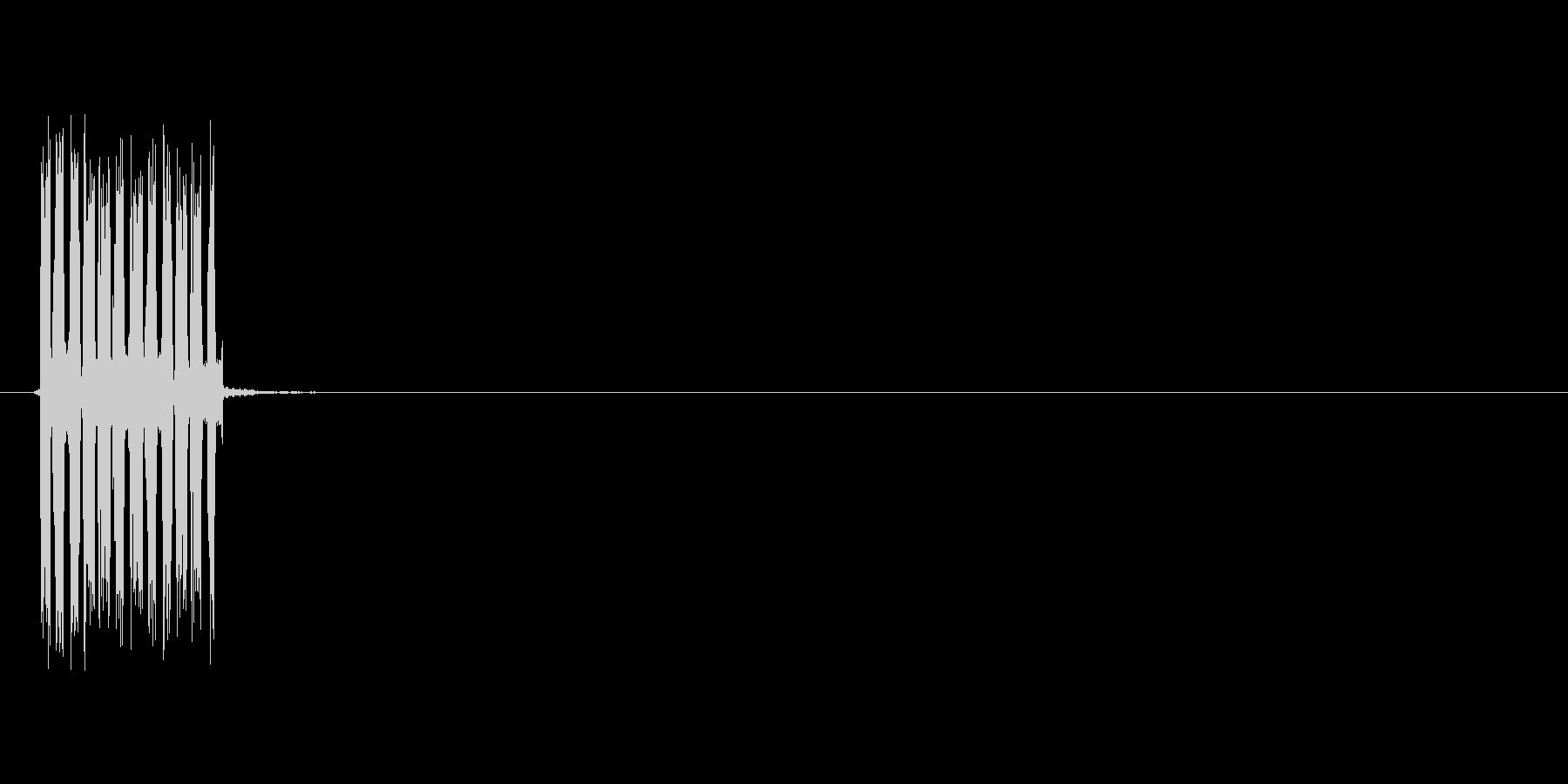 ビリッ(感電、電気)の未再生の波形