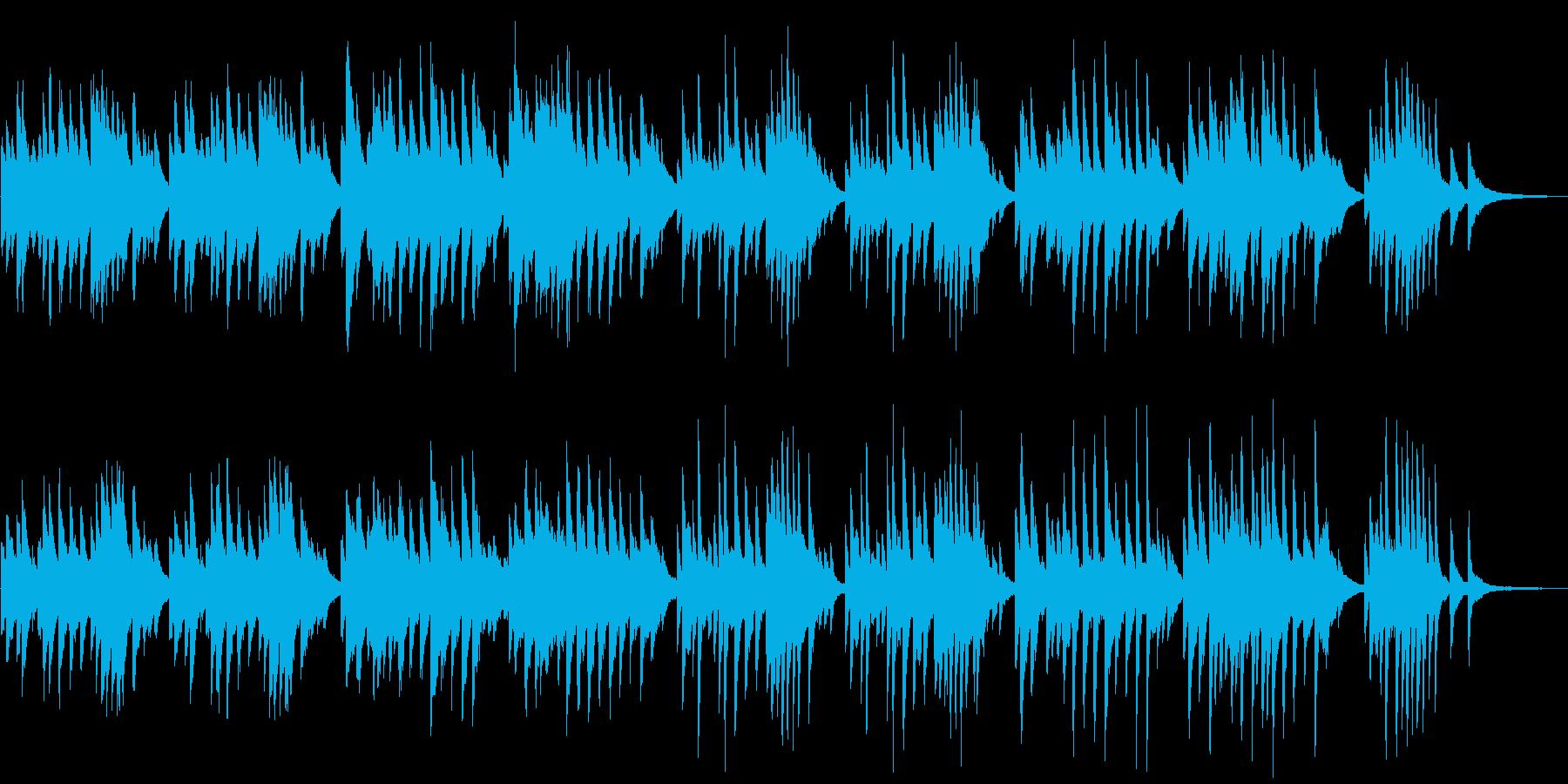 春をイメージしたピアノBGMの再生済みの波形