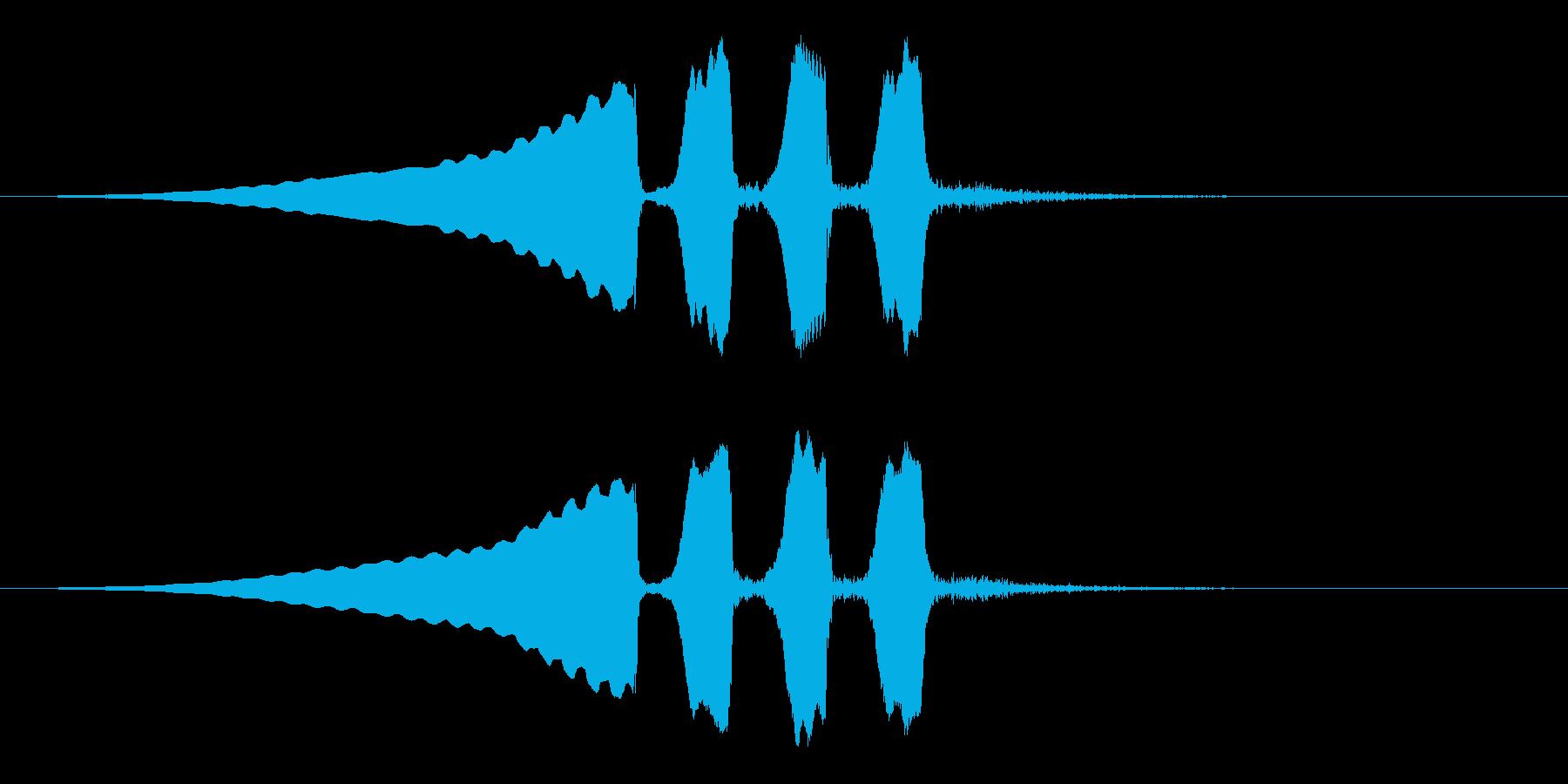うぐいすの鳴き声 1B ほーほけきょの再生済みの波形