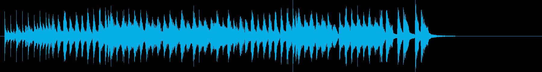 コミカルな和風ポップのジングルの再生済みの波形