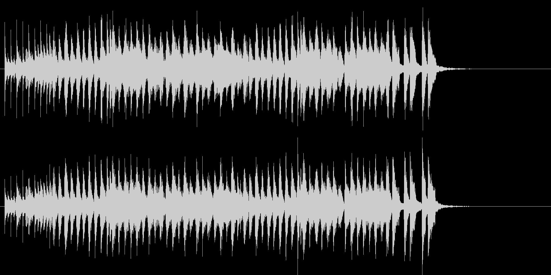 コミカルな和風ポップのジングルの未再生の波形