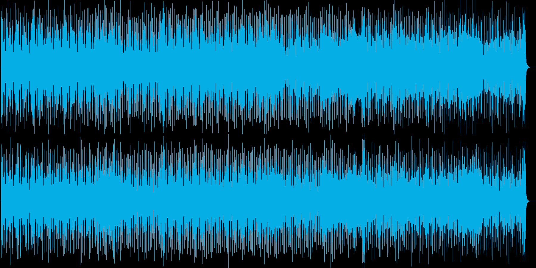 アップテンポなフュージョンポップの再生済みの波形