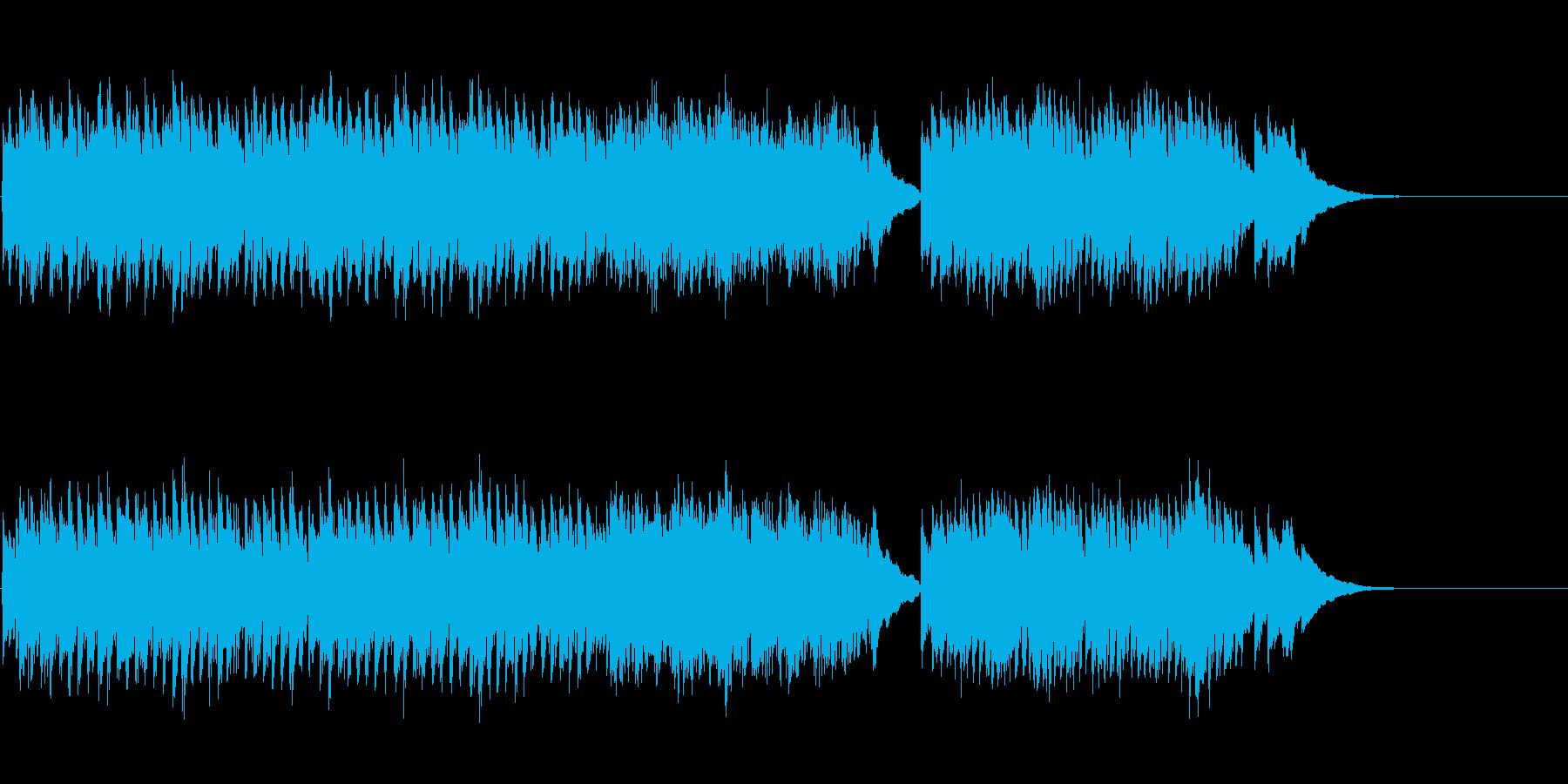 クラシック・ギター独奏マイナー楽曲の再生済みの波形