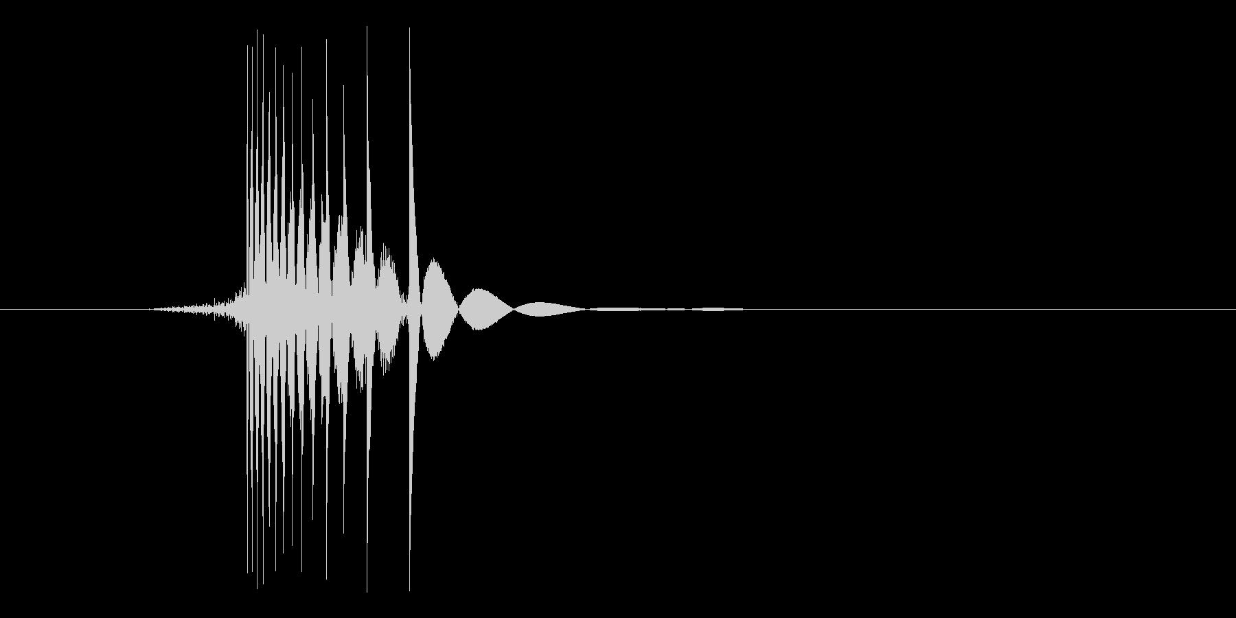 ゲーム(ファミコン風)ヒット音_024の未再生の波形