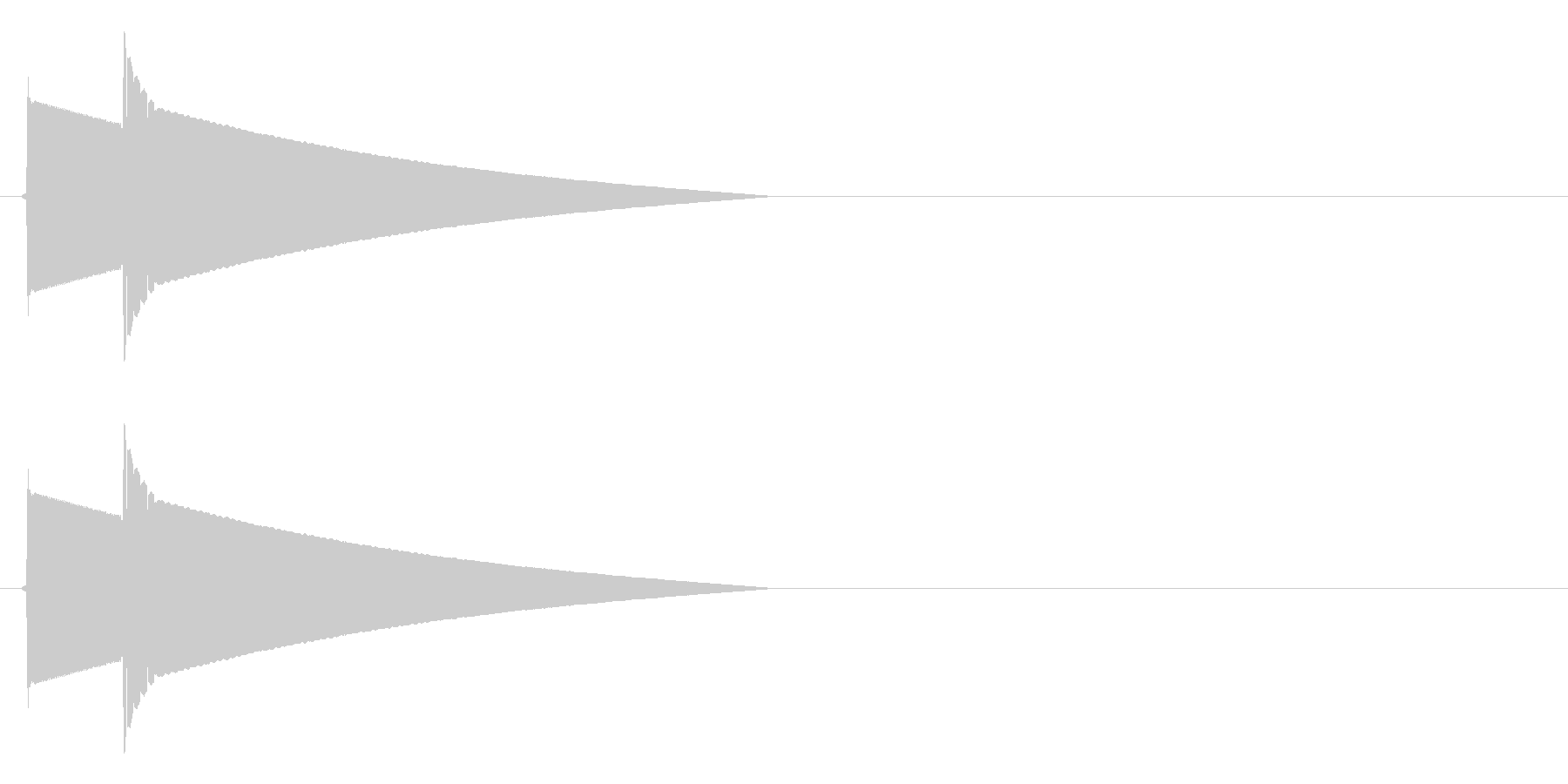 ピポーン(正解、回答時のボタン音)の未再生の波形