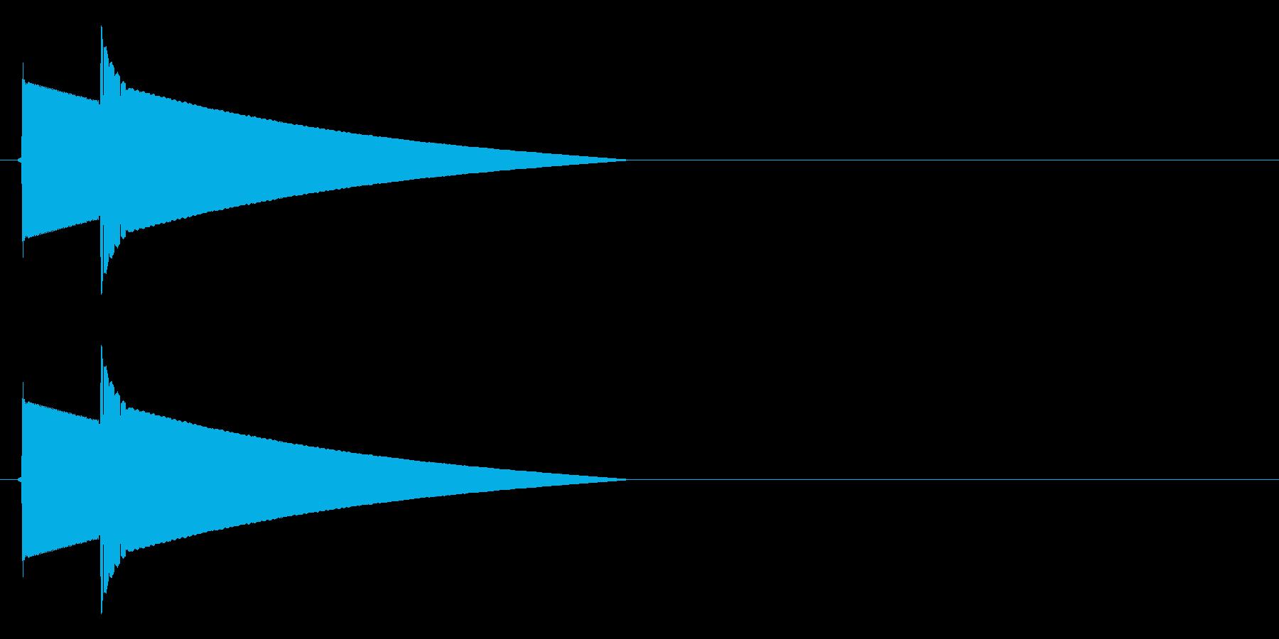 ピポーン(正解、回答時のボタン音)の再生済みの波形