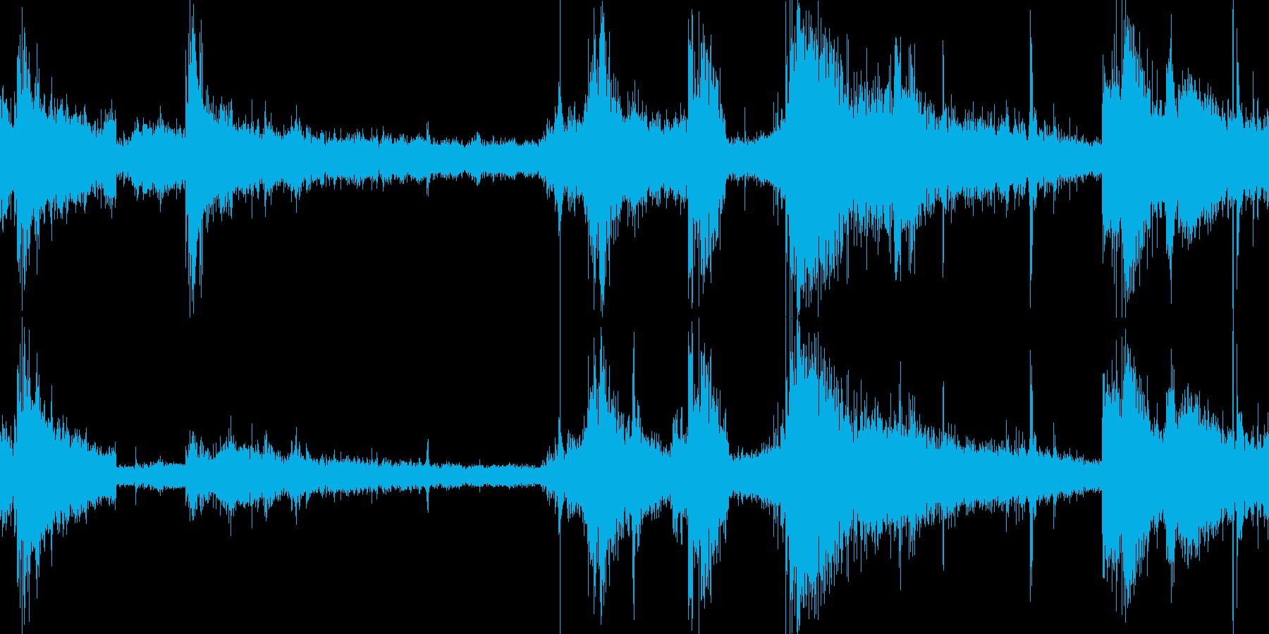 アラスカ 氷河崩落の音の再生済みの波形