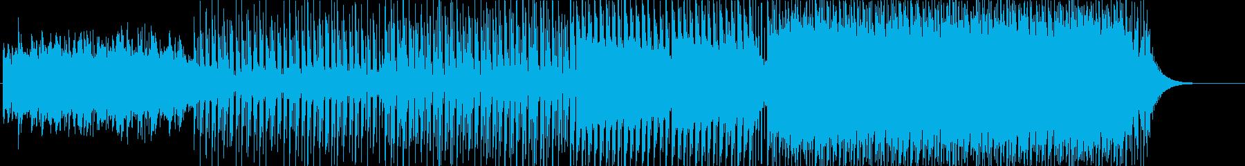 一日の流れに沿った展開のトロピカルハウスの再生済みの波形