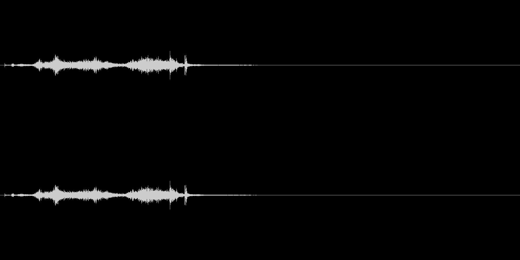 シャキーン 鞘から刀を抜く音の未再生の波形