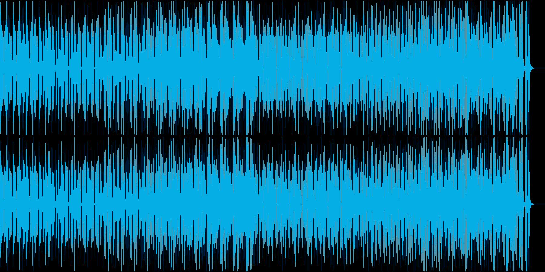 都会的なリズムで展開する曲の再生済みの波形