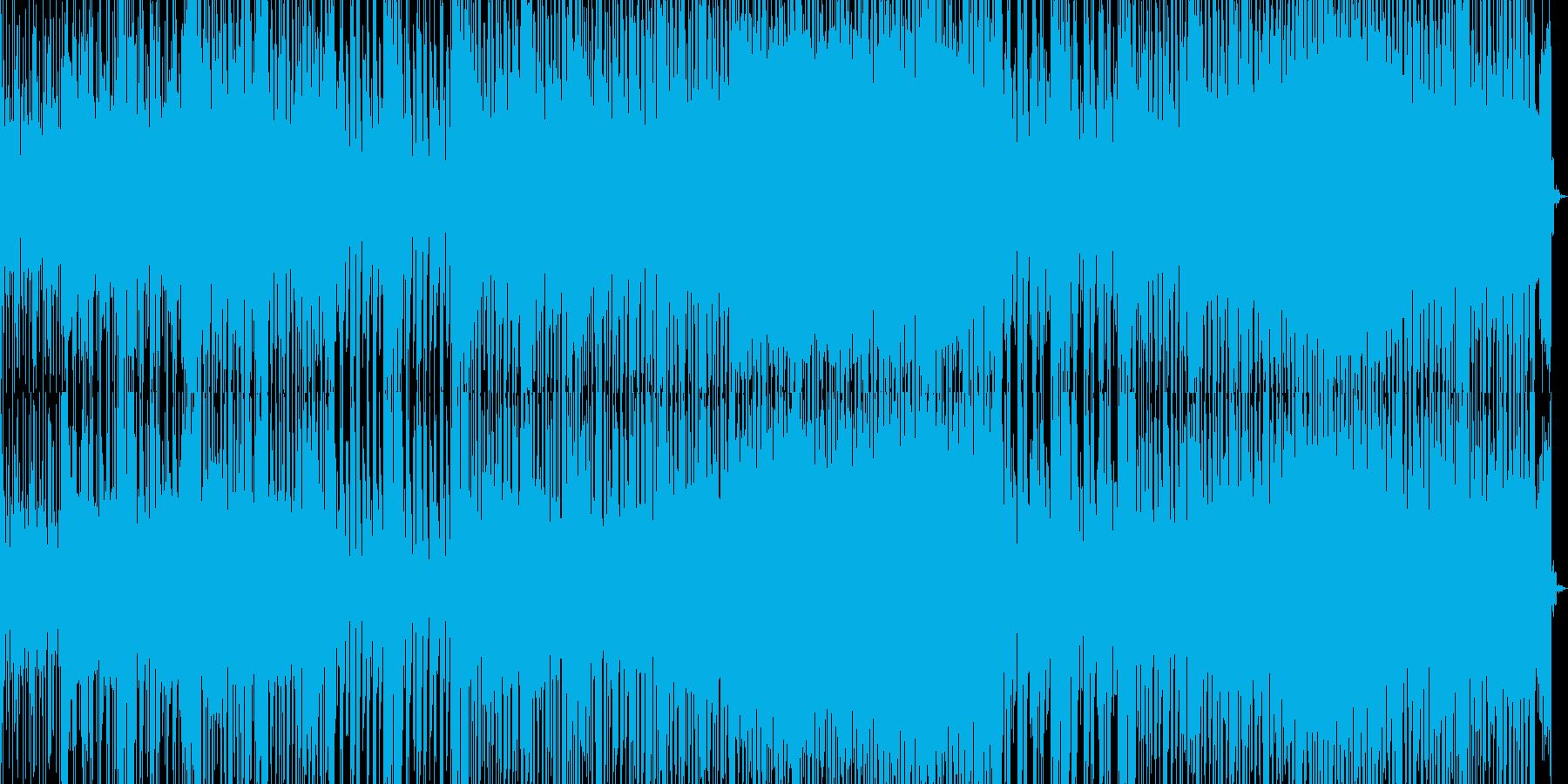 怪しげで疾走感のあるEDMの再生済みの波形