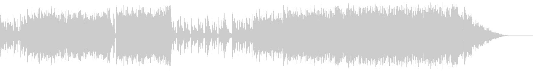 ピアノの旋律が印象的なラブバラードの未再生の波形