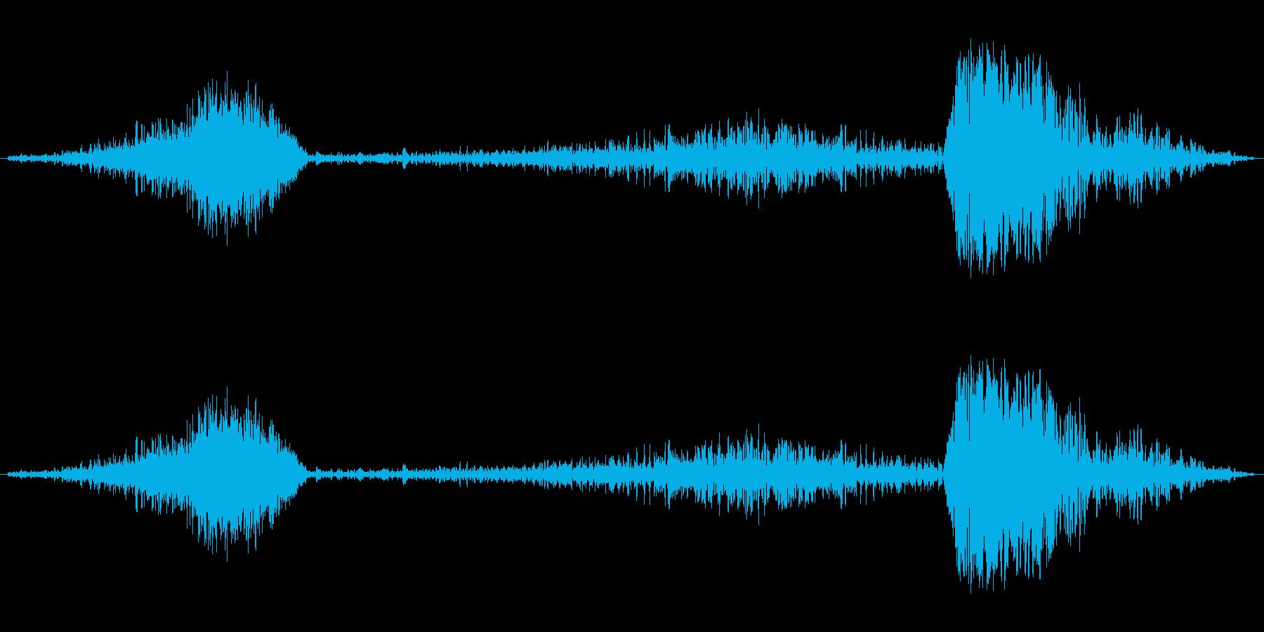 しゅー、がしゃ、どんの再生済みの波形
