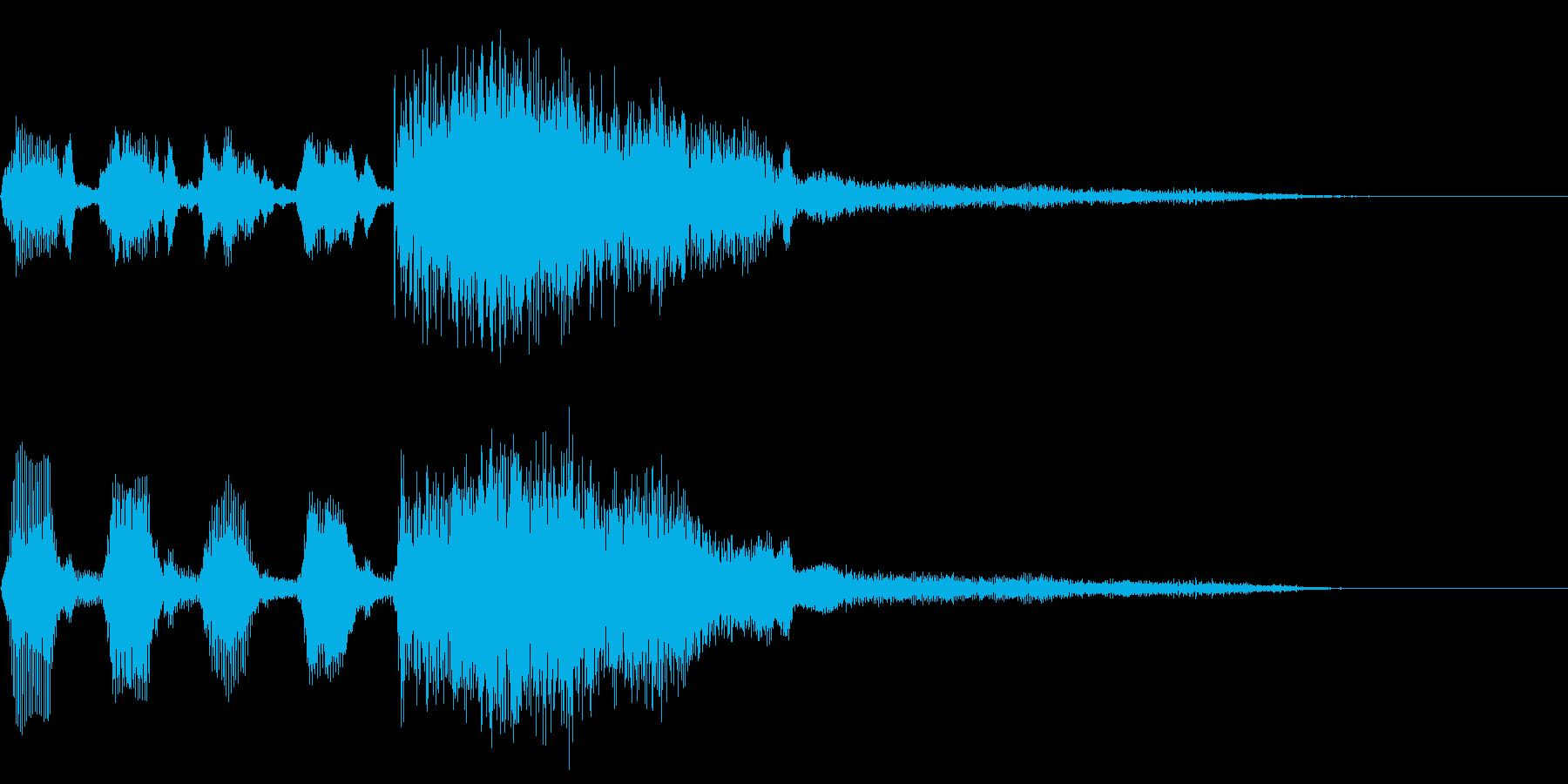 失敗した時の~ファファファファファン~の再生済みの波形