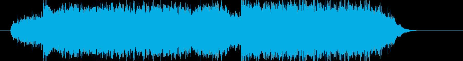 重厚なシンセサウンドの再生済みの波形