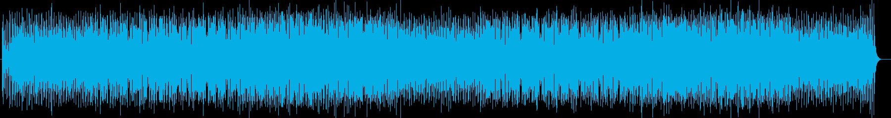 トロピカルなシンセサイザーなどのサウンドの再生済みの波形