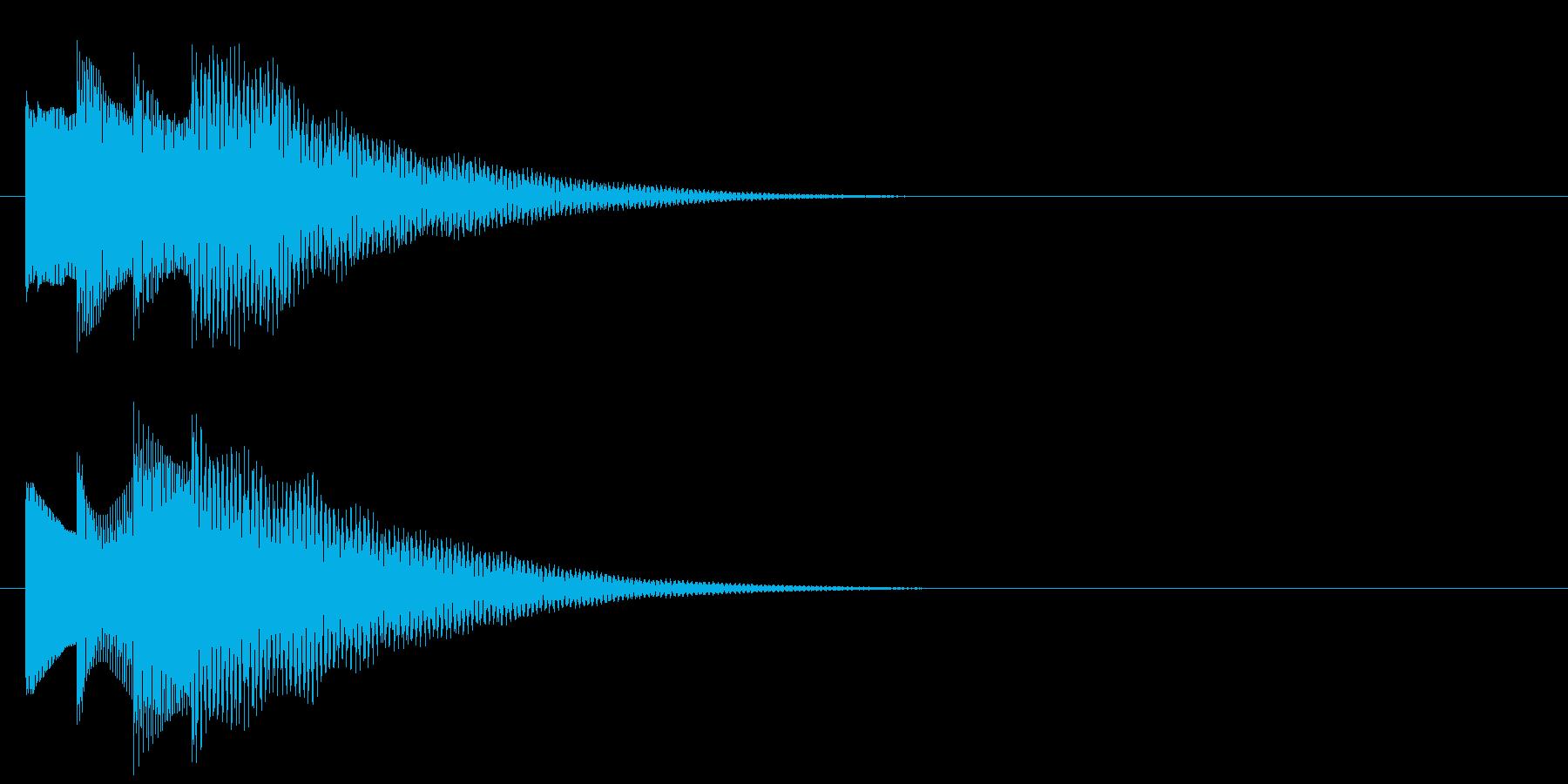 アラーム音06 ベル(add9)の再生済みの波形