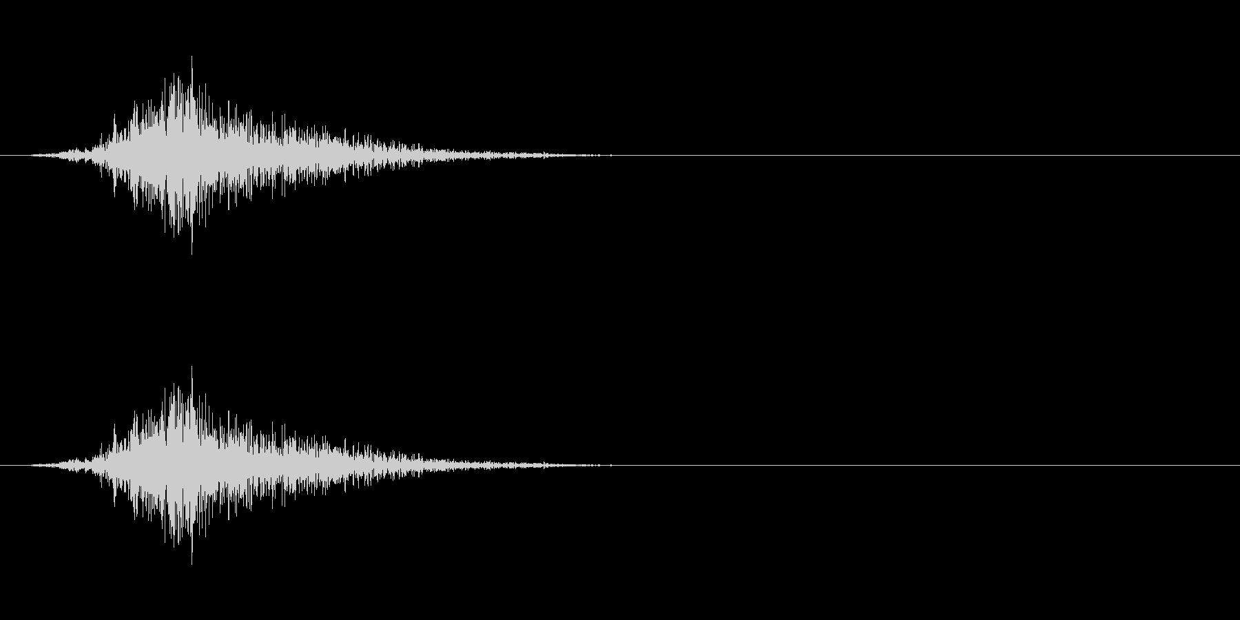動かす音(硬質)の未再生の波形