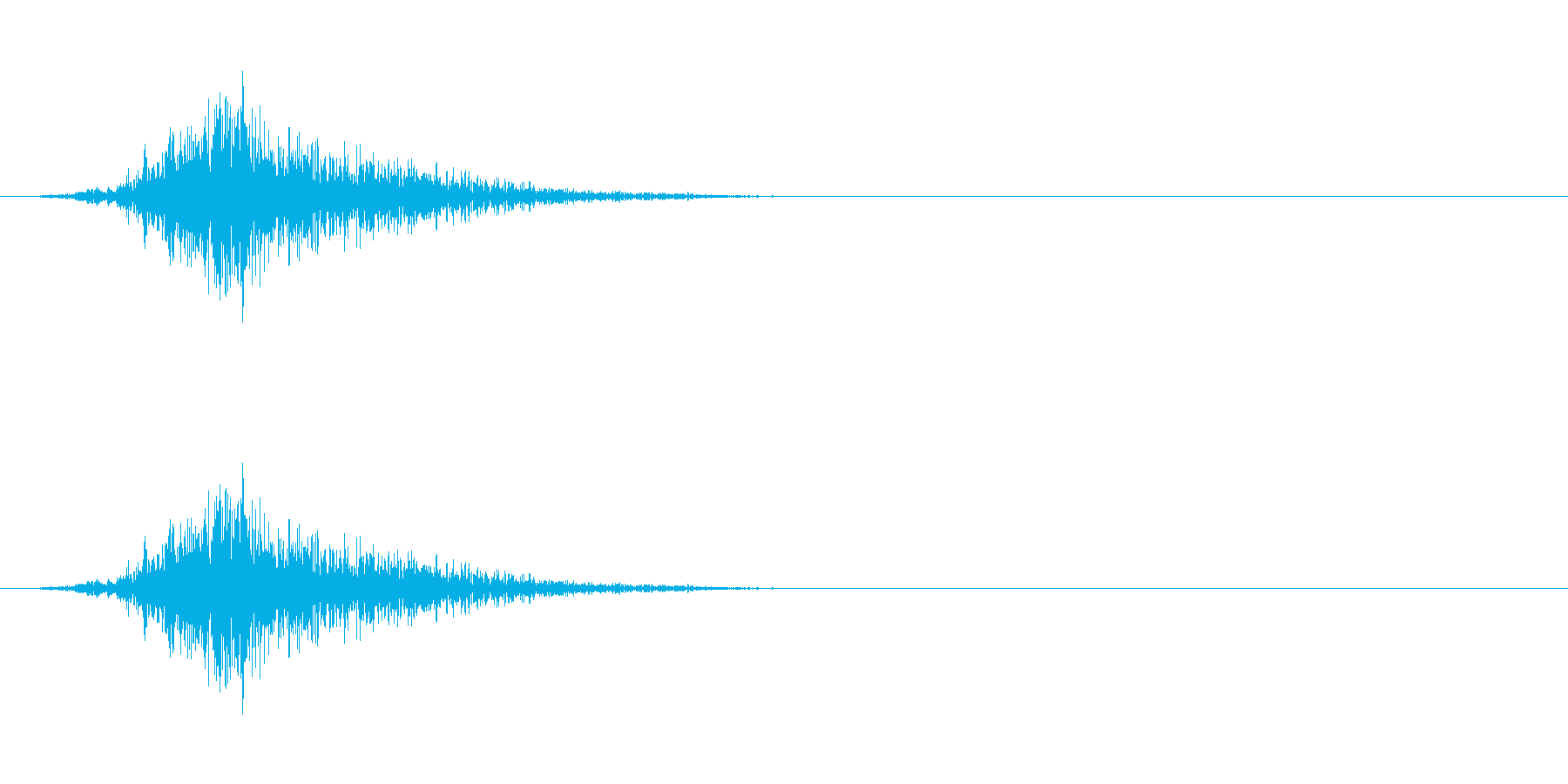 動かす音(硬質)の再生済みの波形