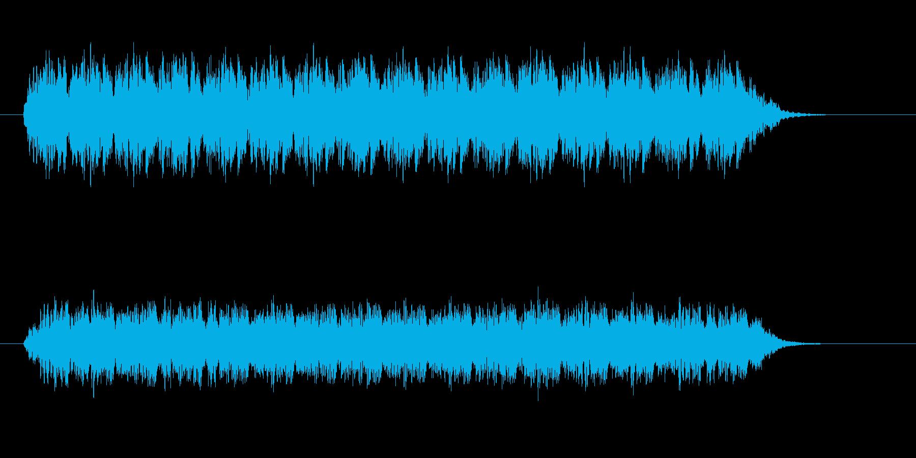 踏切警報音の再生済みの波形