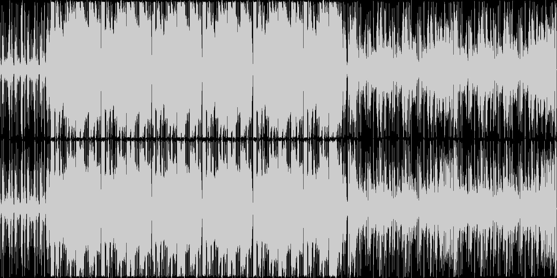 木琴などの打楽器と打ち込みを混ぜたトラ…の未再生の波形