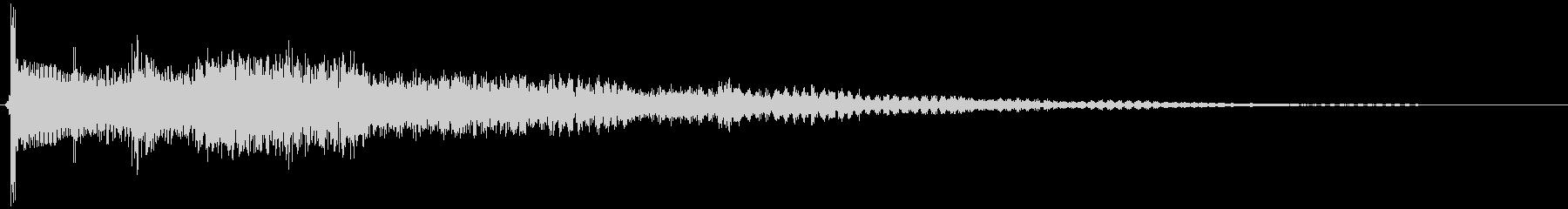 サウンドロゴの予感するエレキギターの未再生の波形