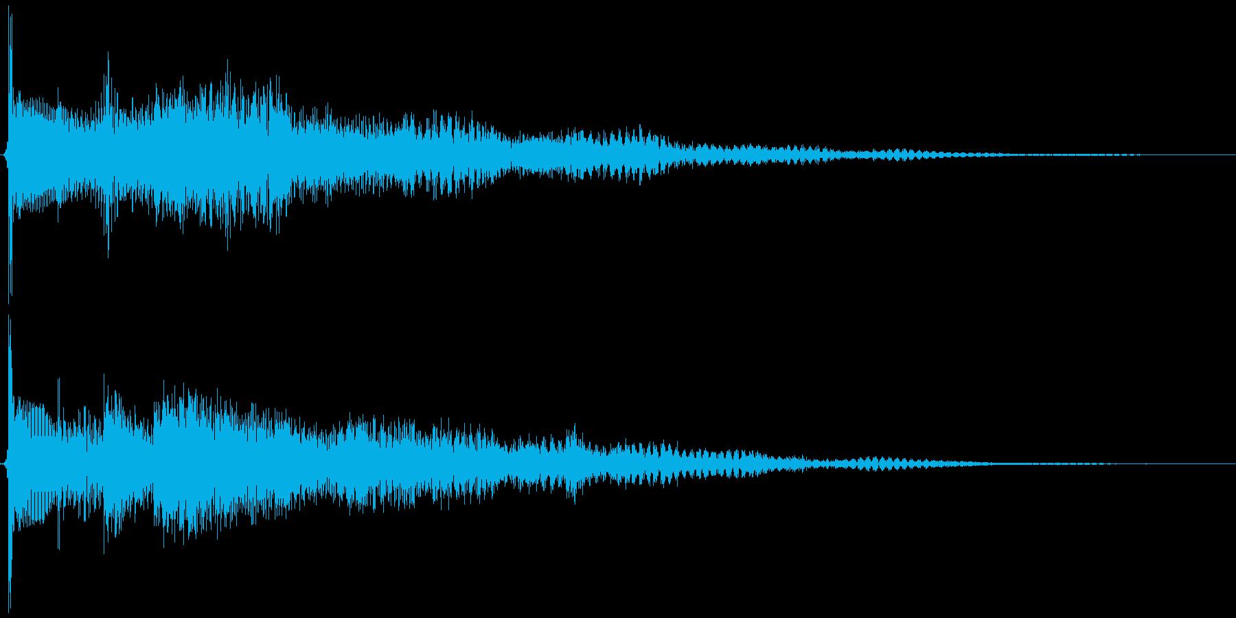 サウンドロゴの予感するエレキギターの再生済みの波形