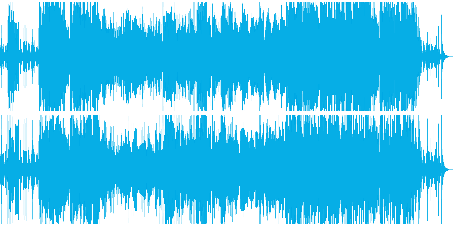 城をイメージしたBGMの再生済みの波形