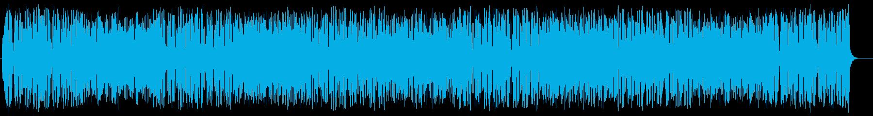 軽快なリズムが特徴のお洒落なポップスの再生済みの波形
