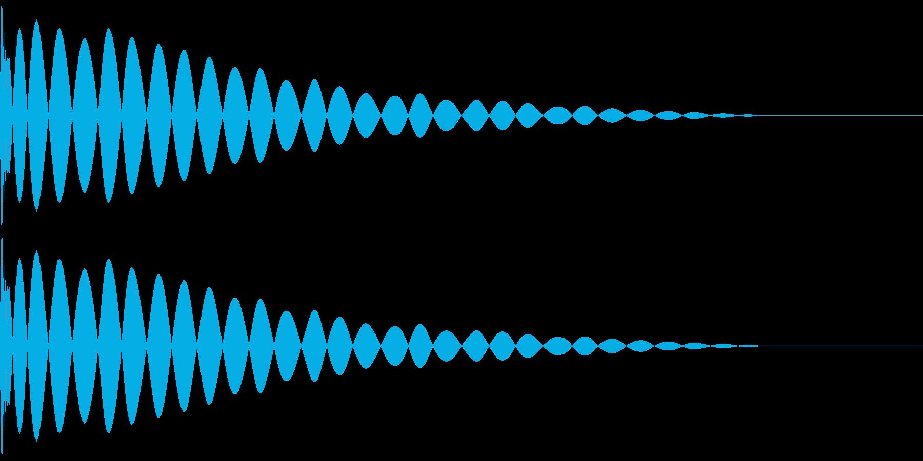 DTM Kick 83 オリジナル音源の再生済みの波形
