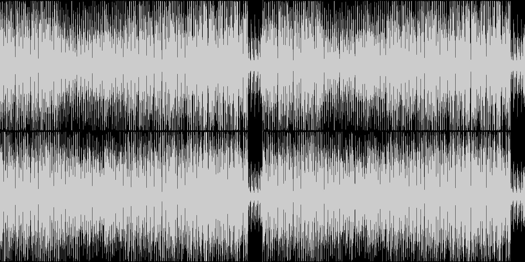 CM用明るいコミカルマーチの未再生の波形