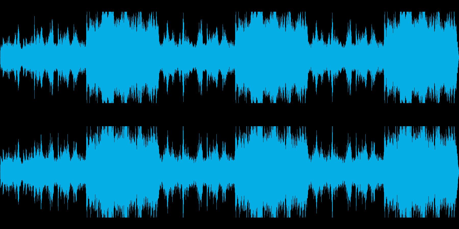 グオーン(ホラーなどで鳴っていそうな音)の再生済みの波形