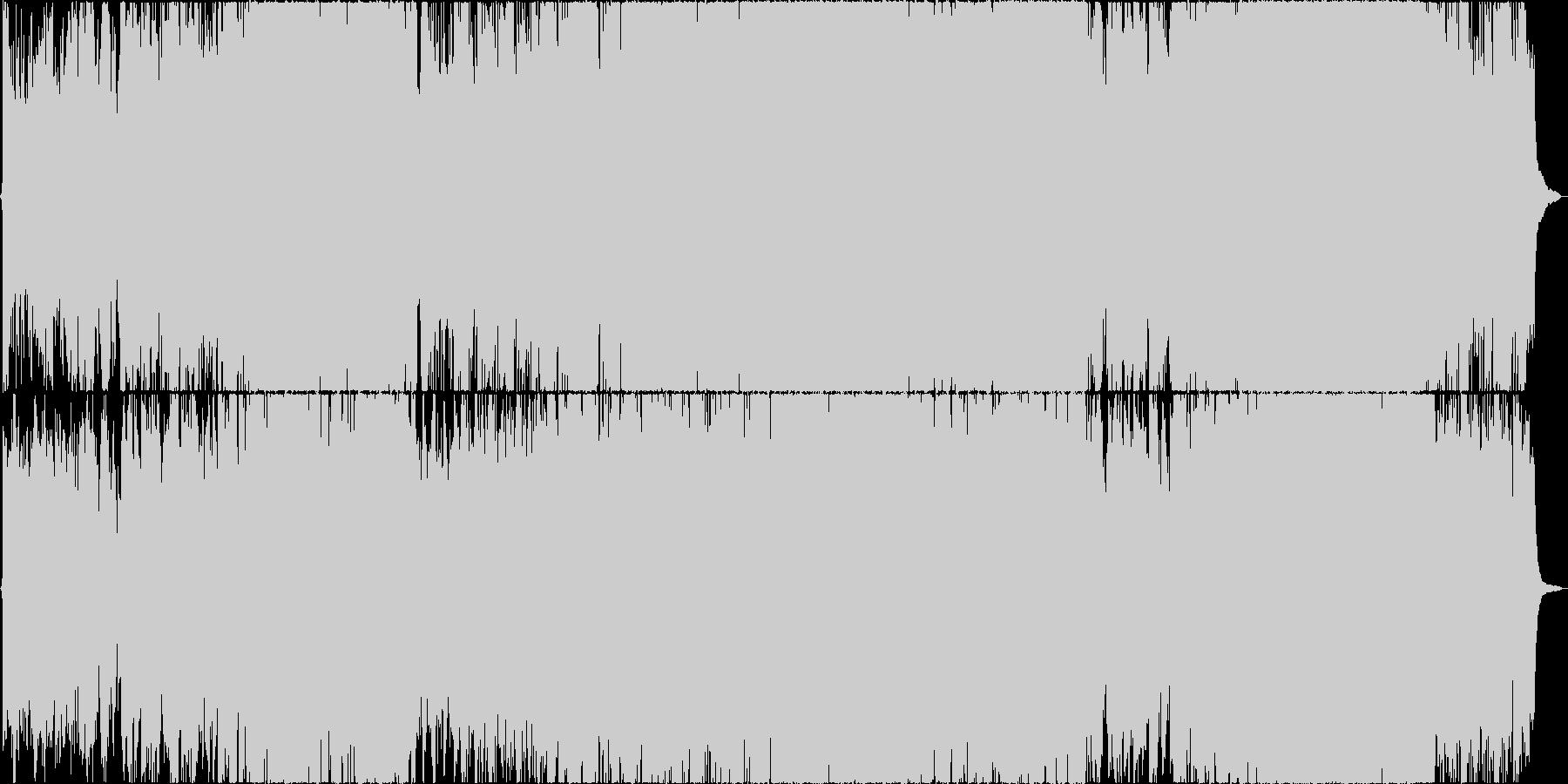 二胡(生)と古筝、太鼓などを使った楽曲の未再生の波形