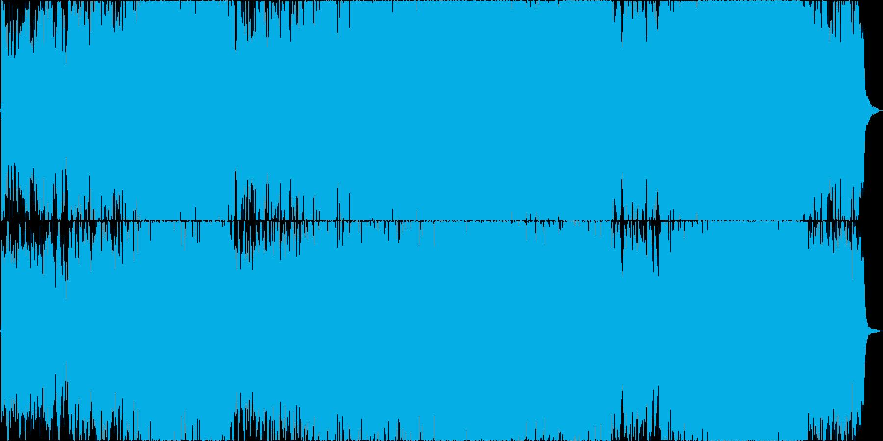 二胡(生)と古筝、太鼓などを使った楽曲の再生済みの波形