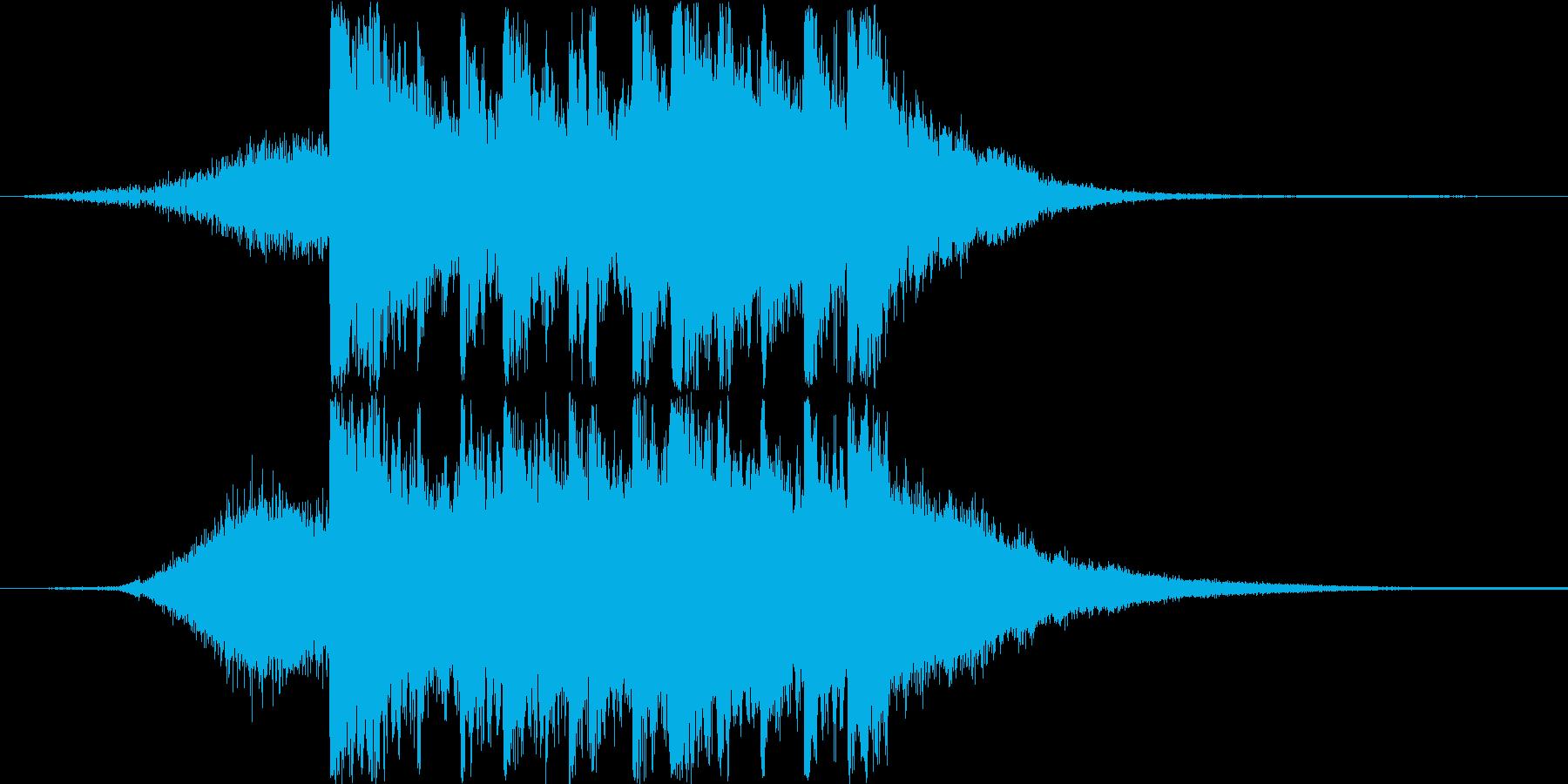 和風な映像、ゲームのタイトルジングルの再生済みの波形