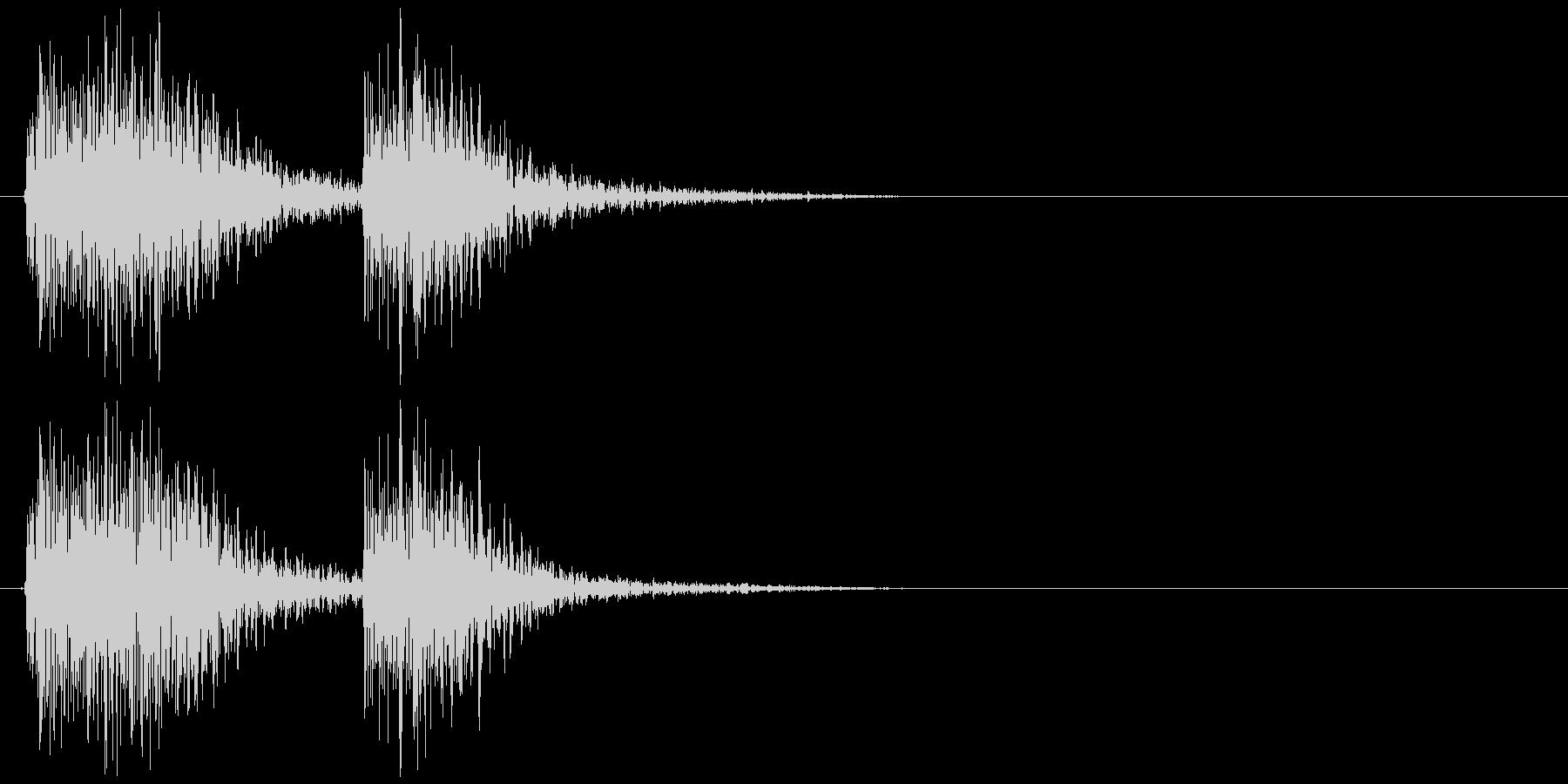 クラッカーの音 パパンの未再生の波形