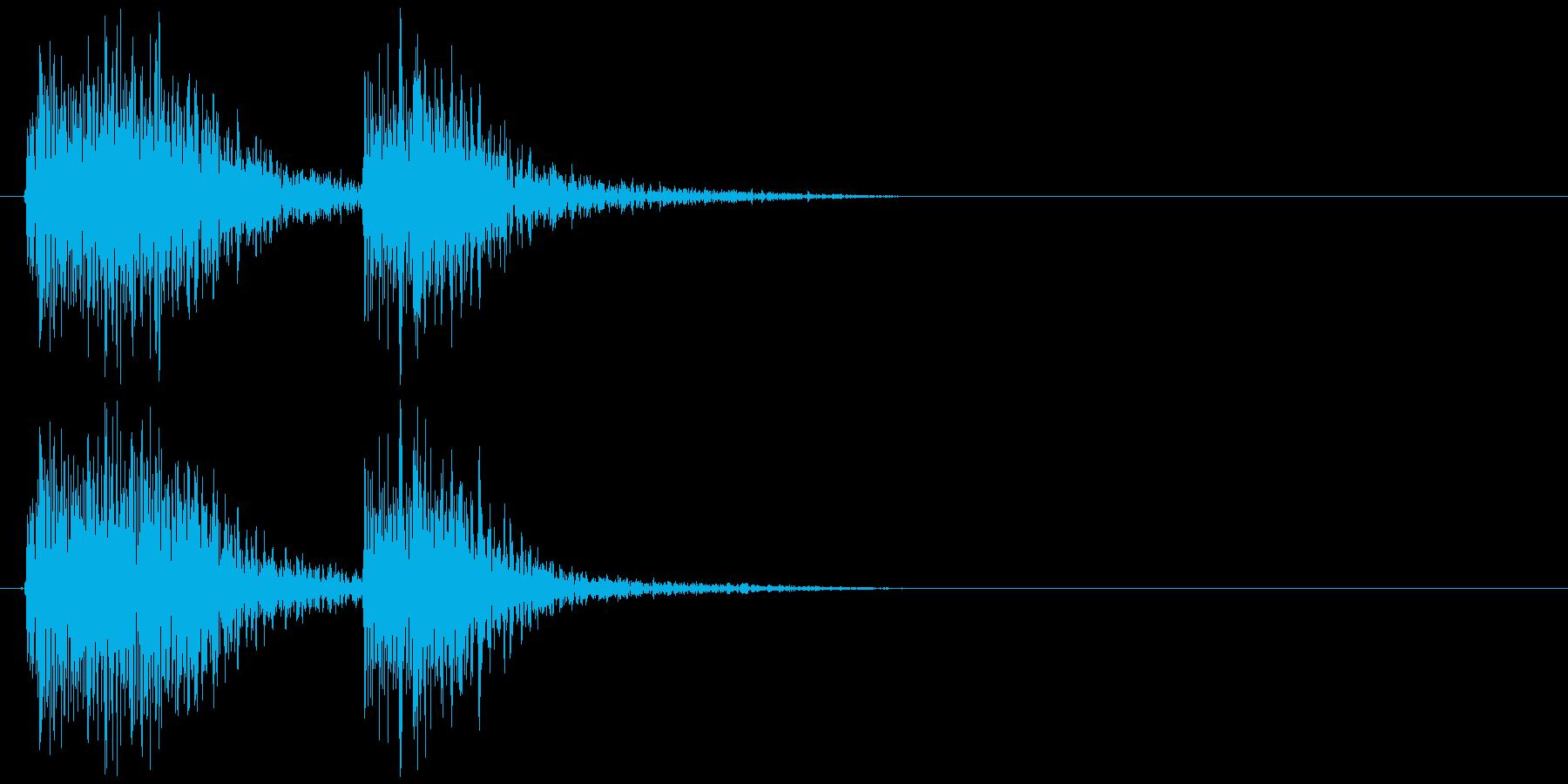 クラッカーの音 パパンの再生済みの波形