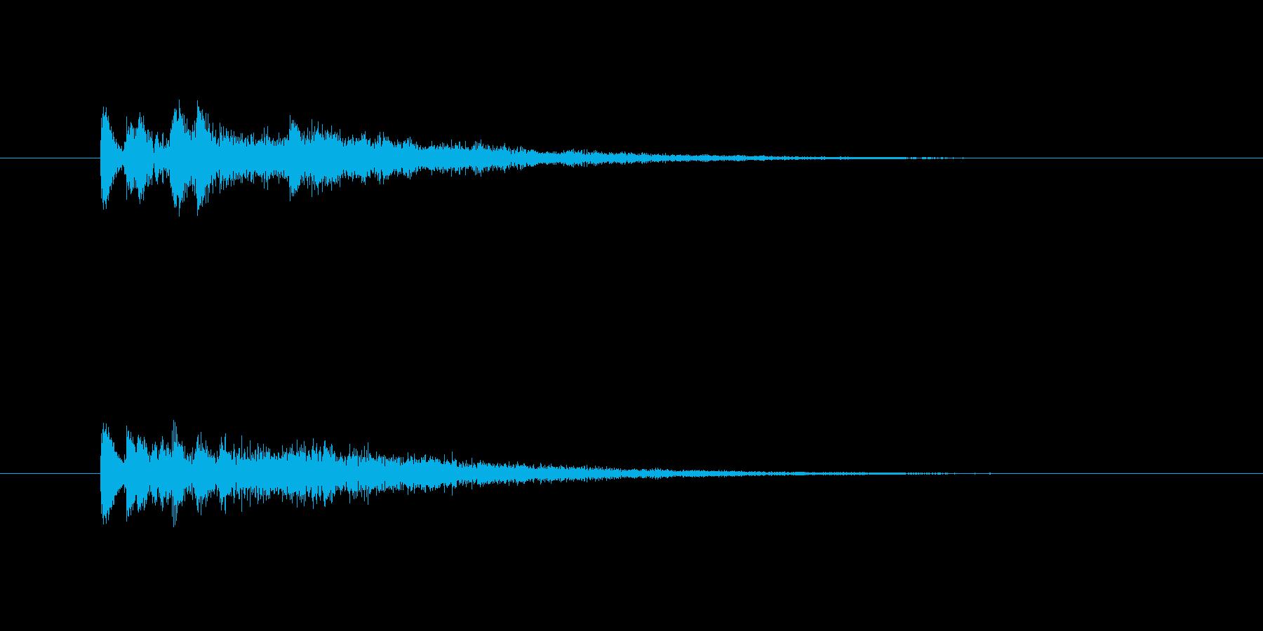 やや機械的で優しい雰囲気のあるサウンド…の再生済みの波形