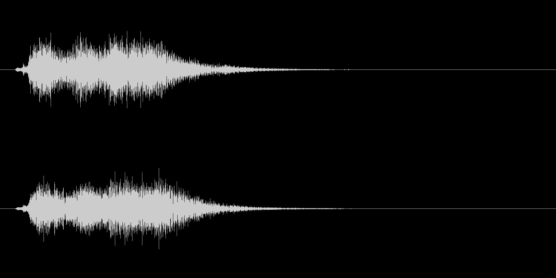 ホルンとスネアドラムによる軽いジングルの未再生の波形