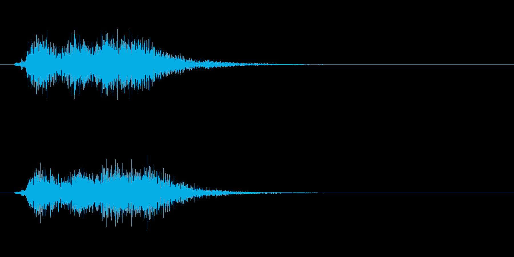 ホルンとスネアドラムによる軽いジングルの再生済みの波形