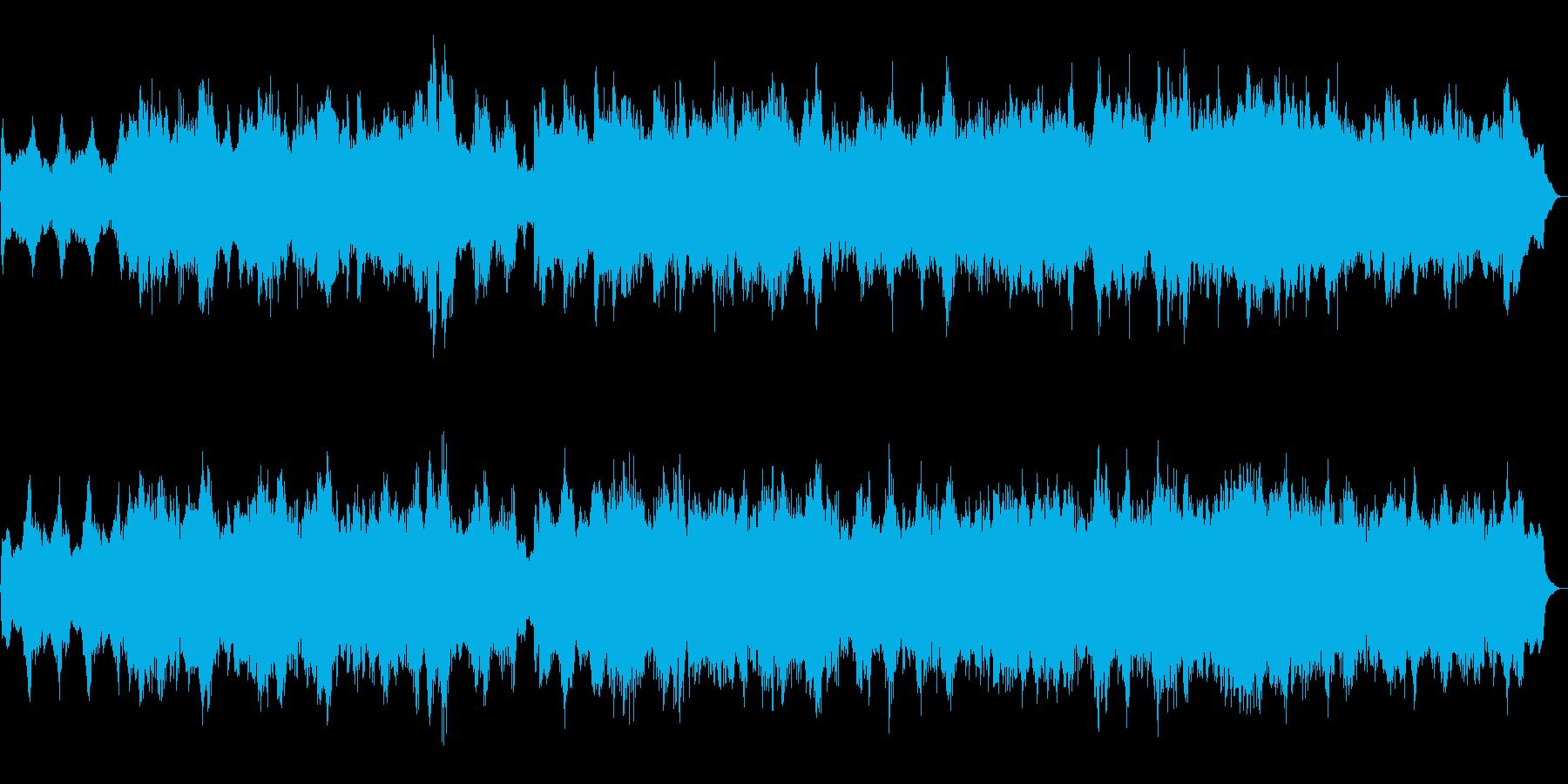 ハロウィン系BGM 魔法の森 を描いた曲の再生済みの波形