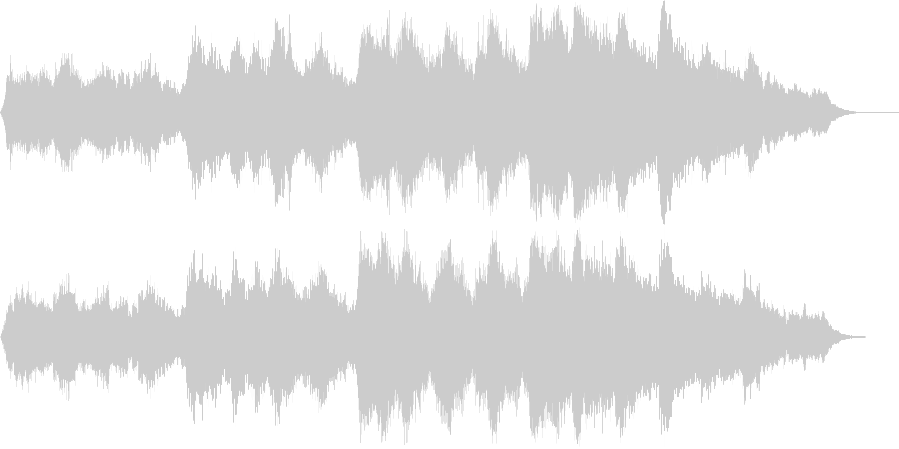 オーケストラ 成功 功績 旅の終わりにの未再生の波形