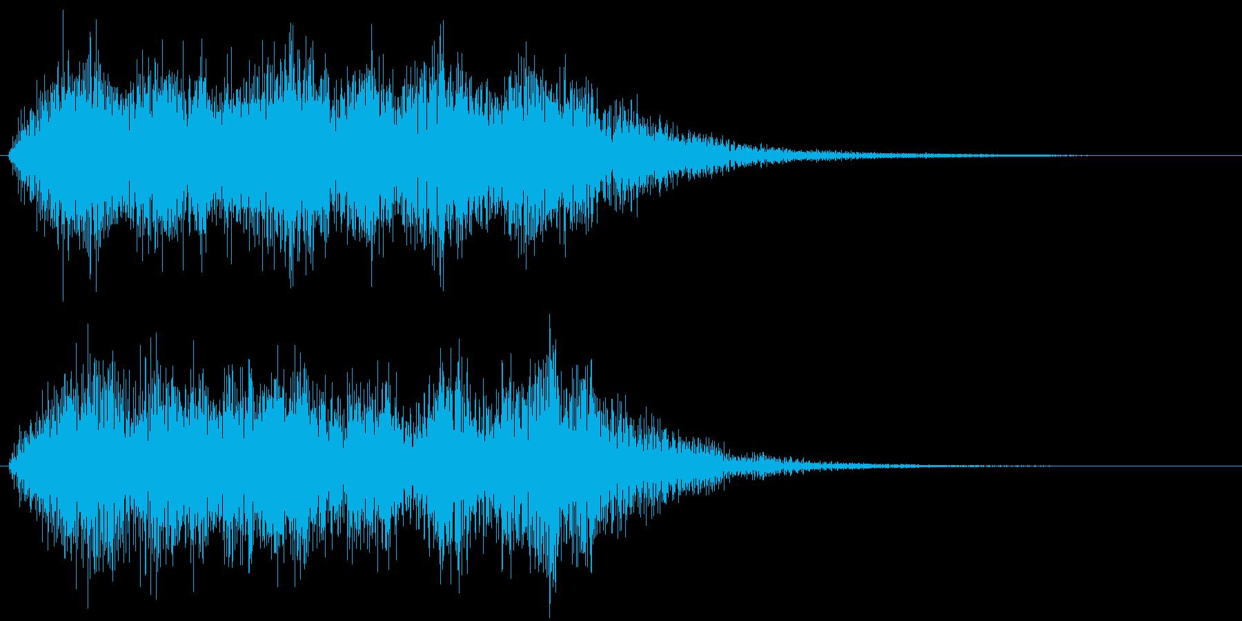 ステージクリア的な短いファンファーレで…の再生済みの波形