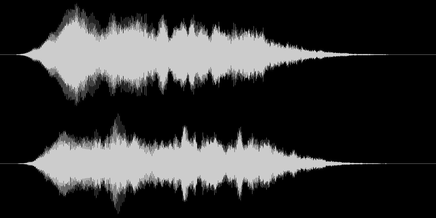 キラキラしたシンセ音によるサウンドロゴの未再生の波形