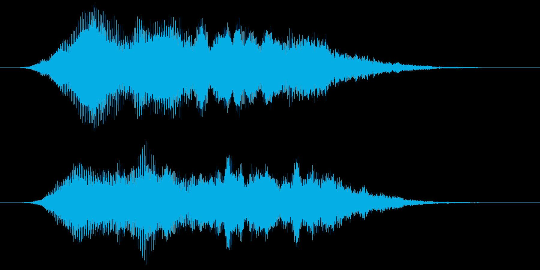 キラキラしたシンセ音によるサウンドロゴの再生済みの波形