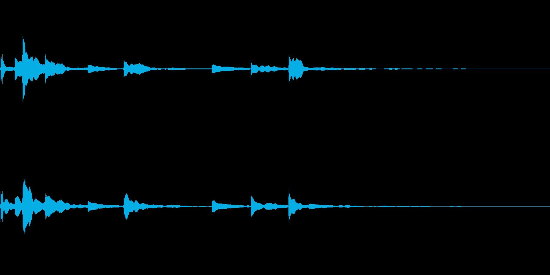 鈴が鳴るの再生済みの波形