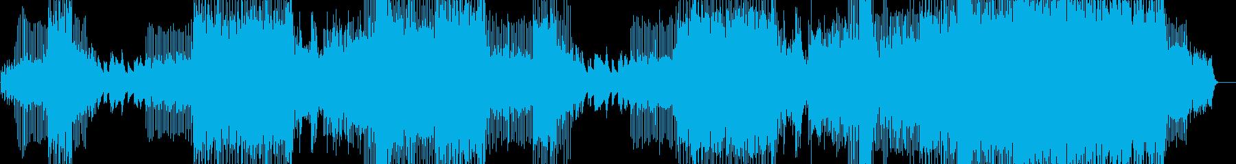 ヒーリング系4つ打ちプログレッシブハウスの再生済みの波形