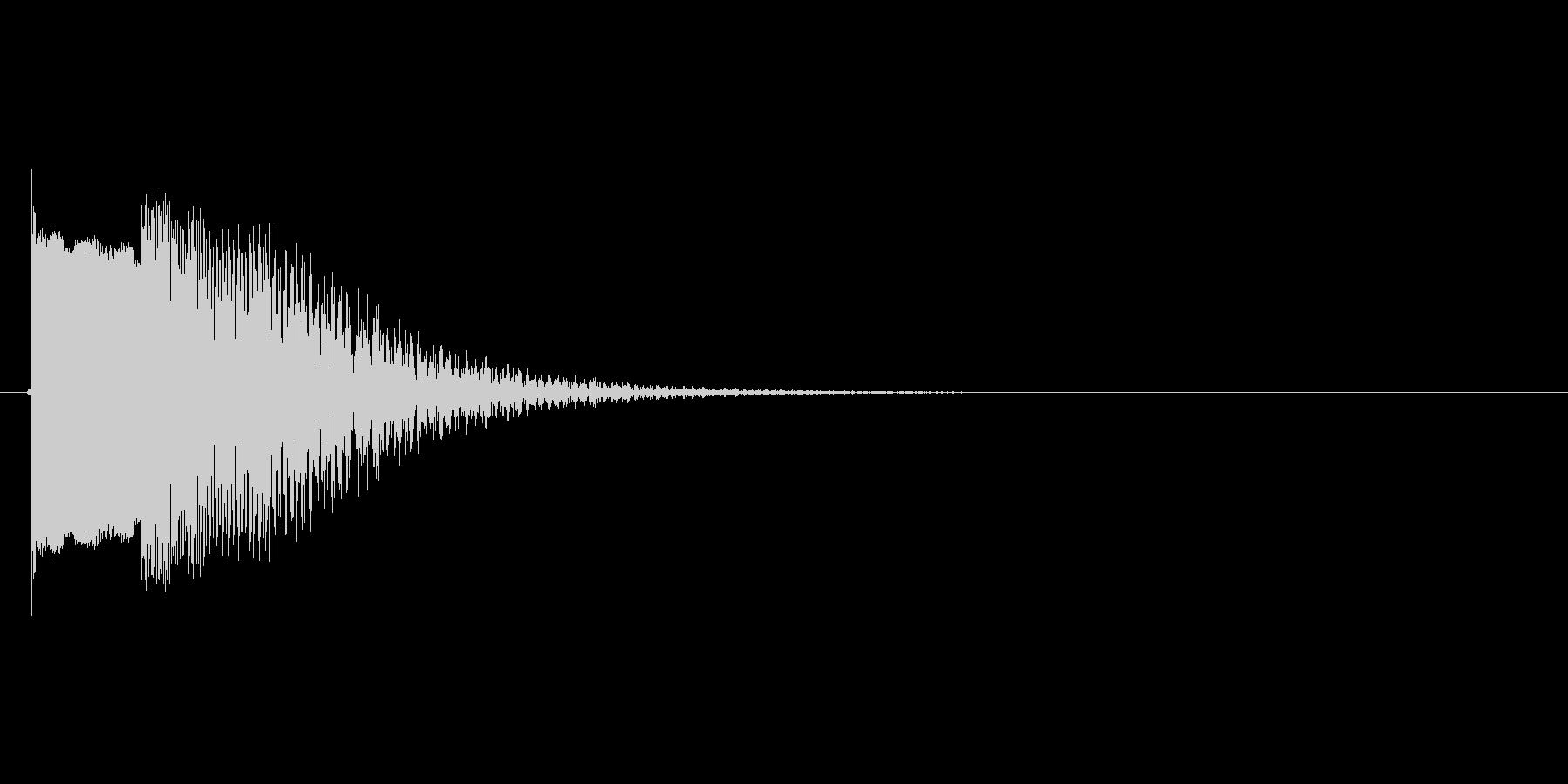 ちゅーん(落下してるイメージ)の未再生の波形