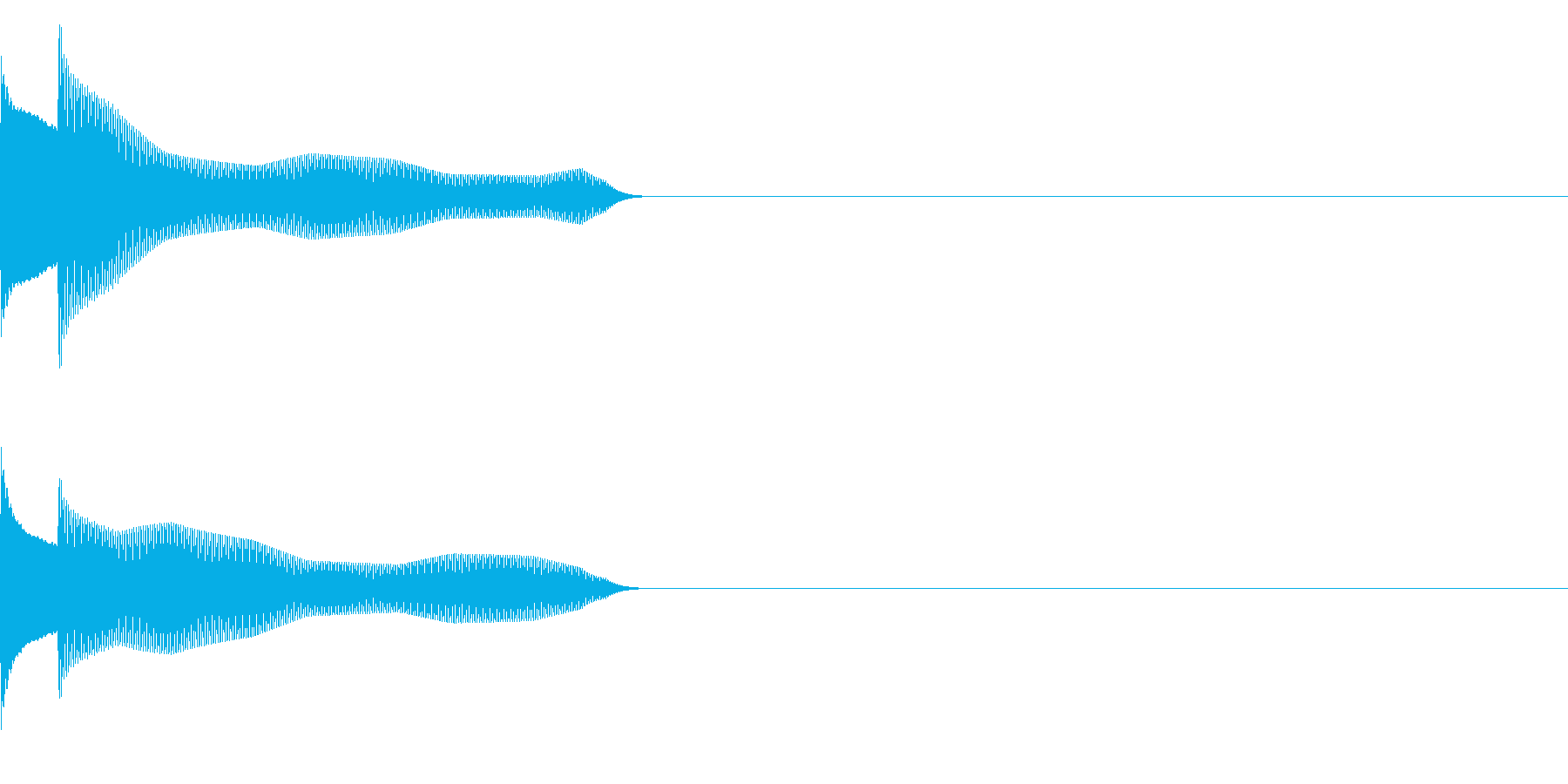 サウンドロゴ21_シンセAAの再生済みの波形